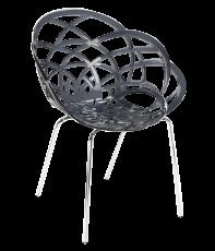 chaise flora noire transparent. Black Bedroom Furniture Sets. Home Design Ideas
