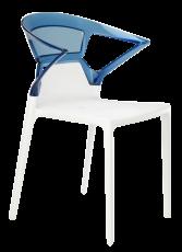 chaise ego k blanc bleu transparent. Black Bedroom Furniture Sets. Home Design Ideas